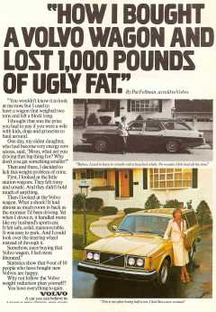 1979 Volvo 240 Ad: Lost 1,000 Pounds of Ugly Fat